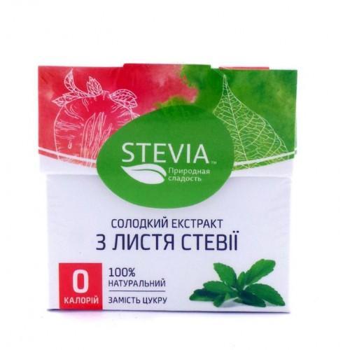 Солодкий екстракт з листя стевії (25 пак.х1г) Stevia 25г