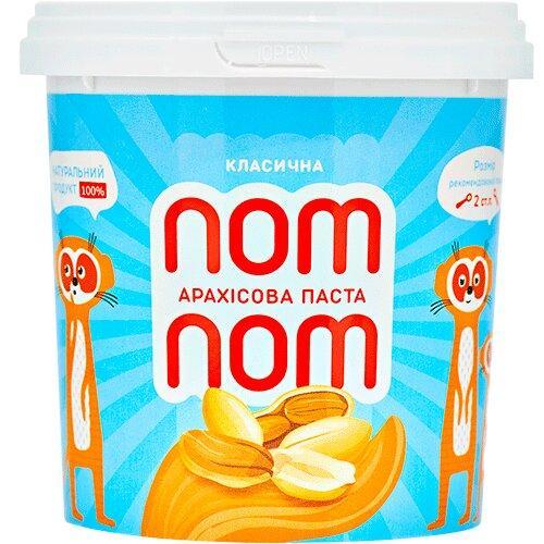 Арахісова паста Класична Nom-Nom 500г