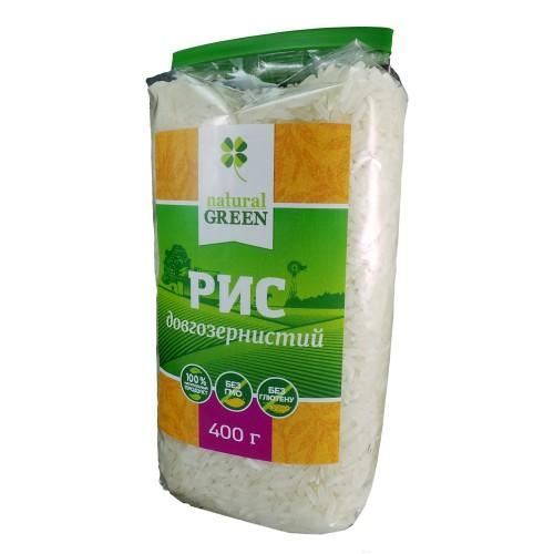 Рис длиннозернистый  Natural Green 400г