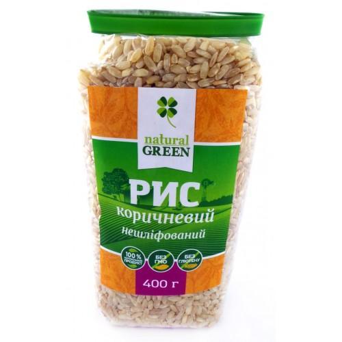 Рис коричневий цільнозерновий  Natural Green 400г