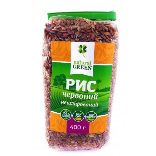 Рис красный цельнозерновой Natural Green 400г