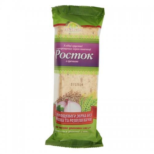 Хлебцы Росток Из пророщенных зерен пшеницы с гречкой УкрЕкоХліб 120г
