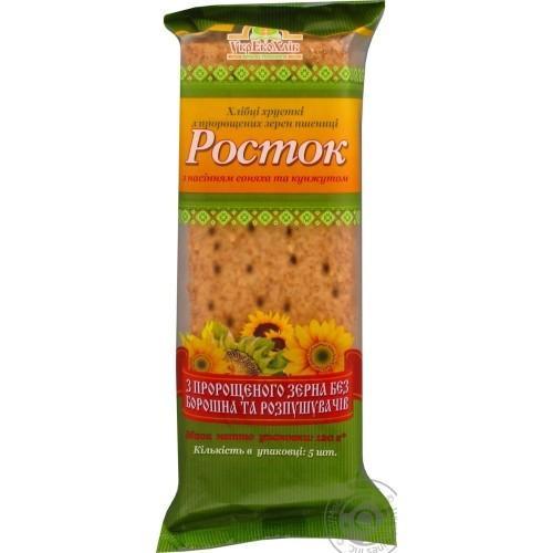 Хлебцы Росток Из  пророщенного зерна пшеницы с семенами подсолнуха и кунжута УкрЕкоХліб 120г